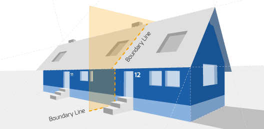 Party Wall illustration for Tunbridge Wells Surveyors
